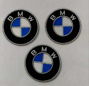 BMW LOGO KIT 3 TOPPE PATCH RICAMATE TERMOADESIVE DIAMETRO 5 CM