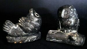 Canadian Wolf Original Repro Inuit Seal and Owl Sculptures | FREE Delivery UK*