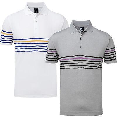 2cd73024 FootJoy Mens Stretch Pique Golf Polo Shirt Painted Stripes (Previous  Season) | eBay