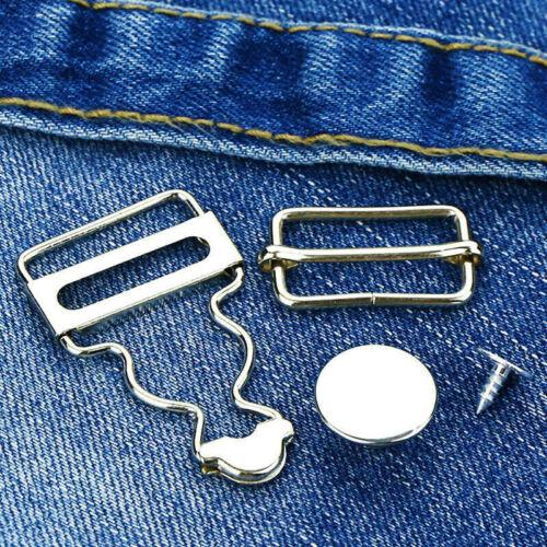 2set Suspenders Buckle Metal Button Adjust Gourd Brace Clip Overalls DIY Accs.