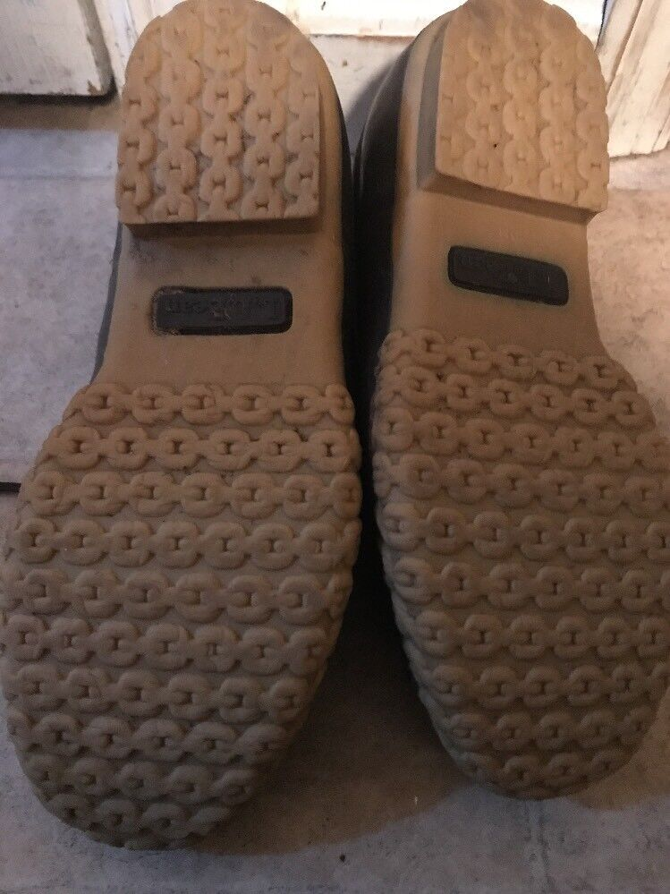 LL Bean Shoes Low Duck Duck Duck Boots Brown Donna Size 8 Vintage faeb13