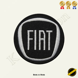 FIAT Car Brand Logo Embroidered Iron On/Sew On Patch Badge