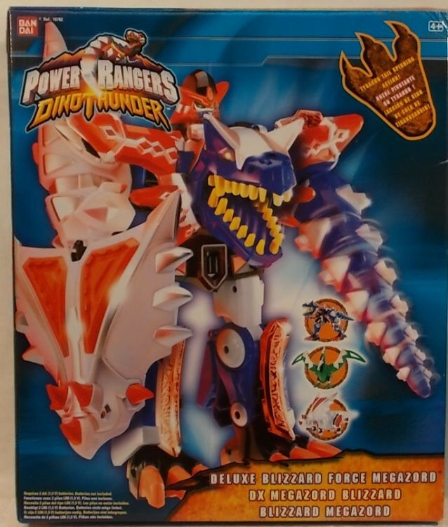 Power Rangers Dino Thunder Deluxe Blizzard Force Megazord By Bandai  MIB