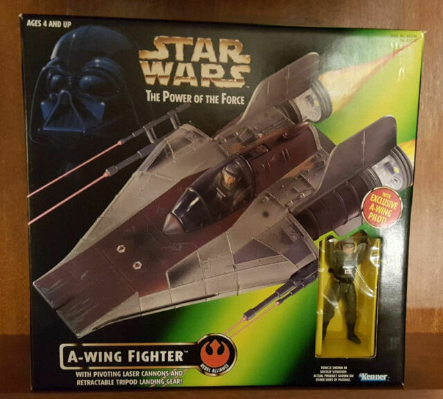 Star Wars A-WING FIGHTER - POTF with Pilot NIB 1997 Kenner/Hasbro FREE Shipping!