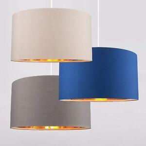 Modern large 45cm easy fit ceiling pendant light shades gold image is loading modern large 45cm easy fit ceiling pendant light aloadofball Image collections