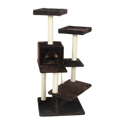Scratching Wood Climbing Tree for Cat Jumping Toy with Ladder Frame Furniture