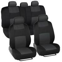 Car Seat Covers For Honda Accord Sedan, Coupe Charcoal & Black Split Bench on sale