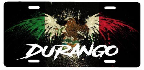 "Durango Mexico Aluminum License Plate Placa 6/"" x 12/"""