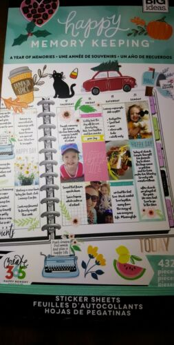 Planner ~ A Year Of Memories ~ 432 Stickers Create 365 Happy Memory Keeping