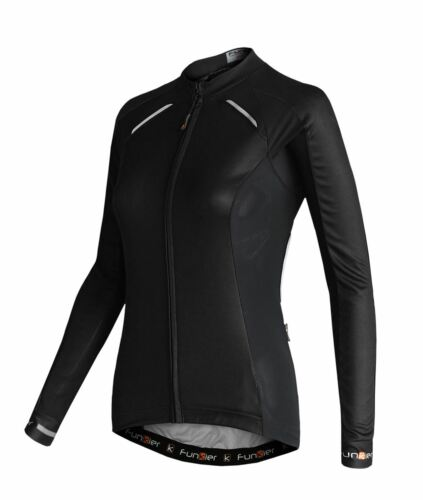 Funkier Odessa Femmes Summer Long Sleeve Jersey Rider coupé en Medium Noir