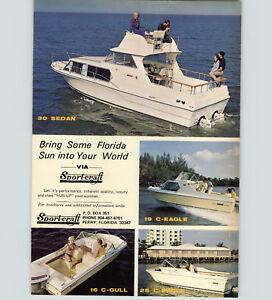 1970 PAPER AD Sport-Craft Motor Boat 30 Sedan 19 Eagle Lang Yacht 280 Sedan