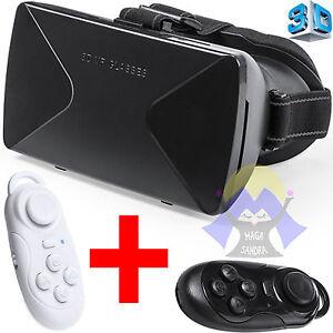 OCCHIALI-Virtuali-VR-Realta-039-GAMEPAD-3D-Smartphone-CONTROLLER-Wireless-VISORE