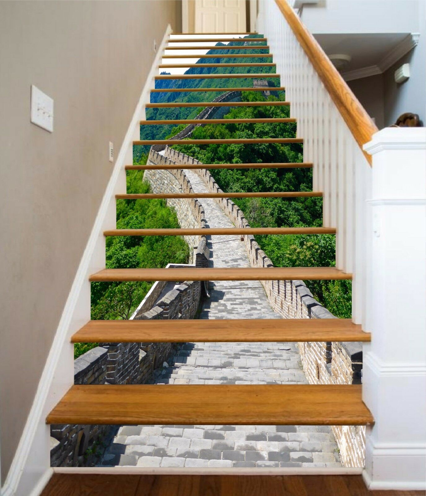 3D The Great Wall Stair Risers Decoration Photo Mural Vinyl Decal Wallpaper AU
