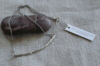 Paz Sterling Silver Organic Branch Twig Bar Necklace 18 Israel 5.7 Grams