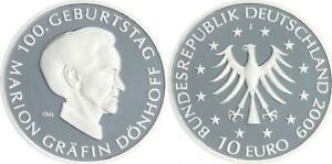 10-Euro-Grafin-Donhoff-2009-Munzzeichen-J-Polierte-Platte-in-Munzkapsel