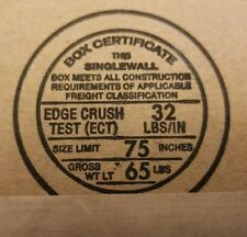20x Single Wall Corrugated Shipping Packing 12x9x4 Boxes Gwl 65 Lbs Ect 32 Lbs