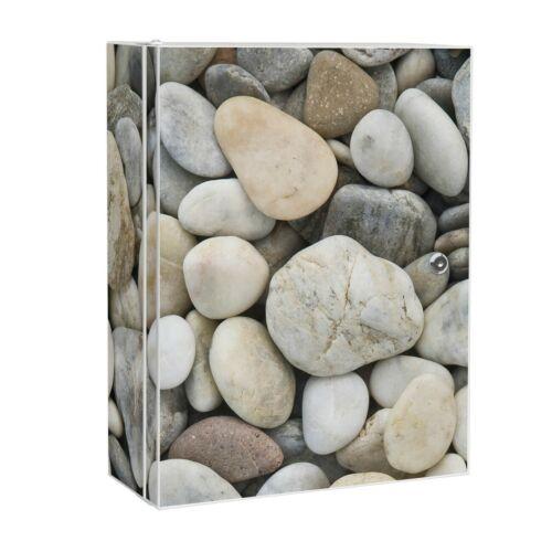 banjado Hausapotheke Metall weiß Schrank Medizin abschließbar  Kieselsteine