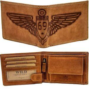 a4af4c66328e2 Das Bild wird geladen Leder-Geldboerse-Geldbeutel-Brieftasche-Herren-Maenner -echt-Bueffelleder-