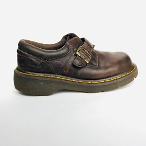 6a47b7c208b Dr. Doc Martens Brown Leather Monk Strap Loafer Women s US 7 M UK 6 ...