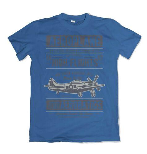 Aeroplane mens t shirt pilot aerobatics air show S-3XL