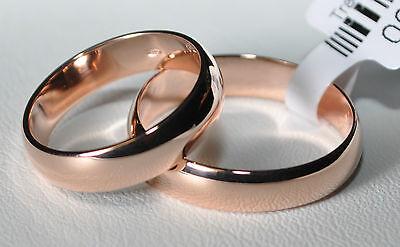 1 Paar Trauringe - Silber 925 Vergoldet - Rotgold 22 K - 5µ - Top Qualität !! Dauerhafte Modellierung