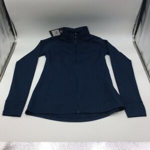 Under-Armour-Womens-Track-Jacket-Blue-Smocked-Zip-Mock-Neck-Long-Sleeve-S-New