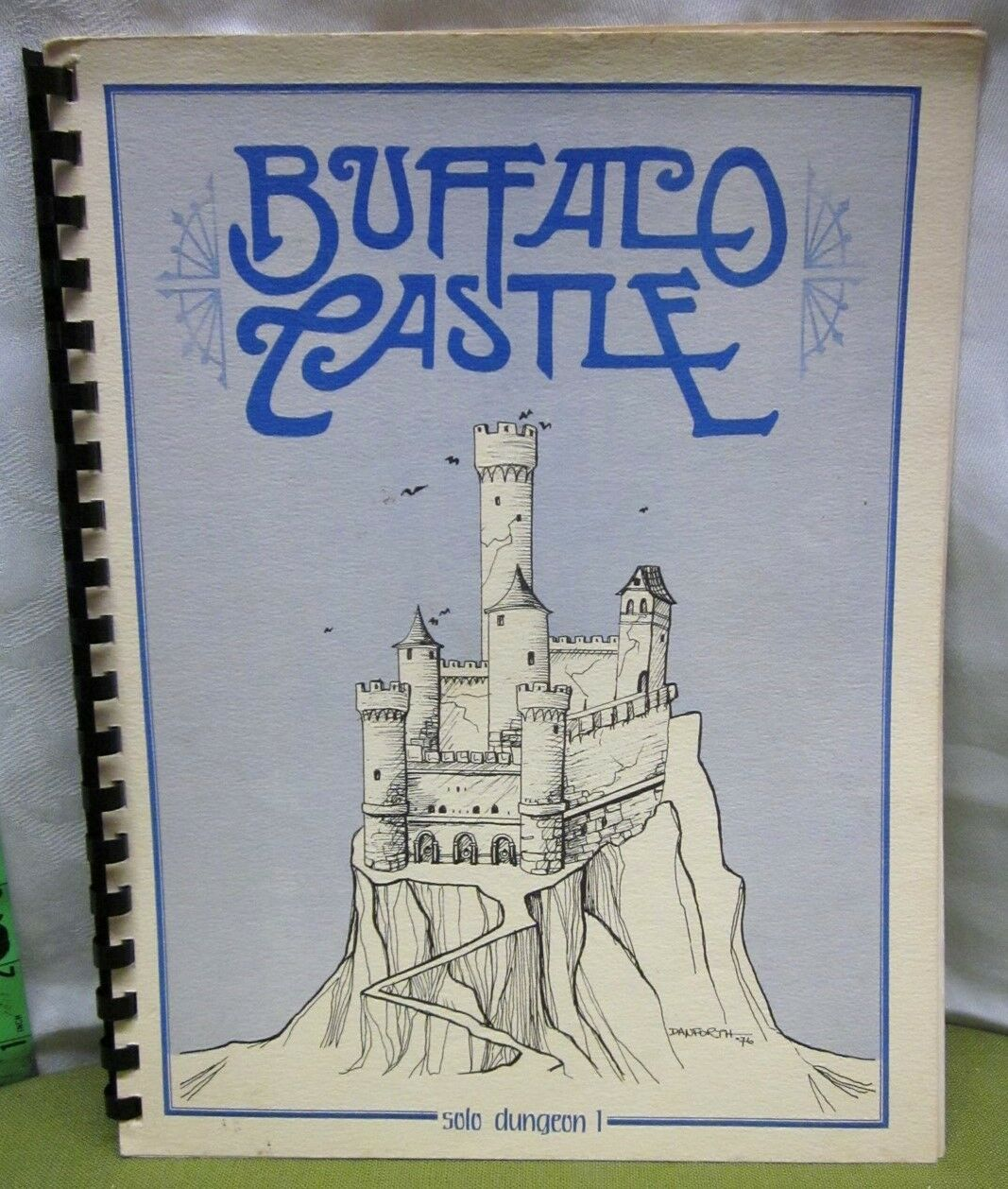 BUFFALO CASTLE Solo Dungeon Dungeon Dungeon supplement RPG role-playing libro 1976 Tunnels Trolls a85a86