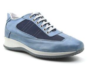 Caricamento dell immagine in corso Scarpe-uomo-vera-pelle-sneakers-basse -comode-con- bba8ae08e97