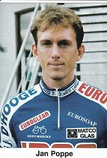 CYCLISME carte cycliste JAN POPPE équipe IPSO eurosoap euroclean