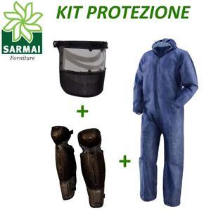 Kit protezione decespugliatore tuta PLP + visiera protezione viso + gambali