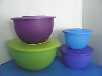 Tupperware Impressions Classic Bowl Set (4) Graduated Sizes For All Your Needs