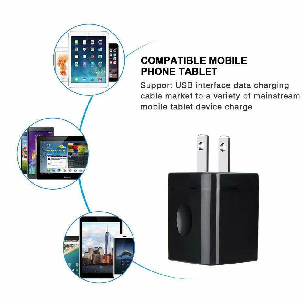 3pcs 2.1A Port USB Wall Phone Charging Base Charger