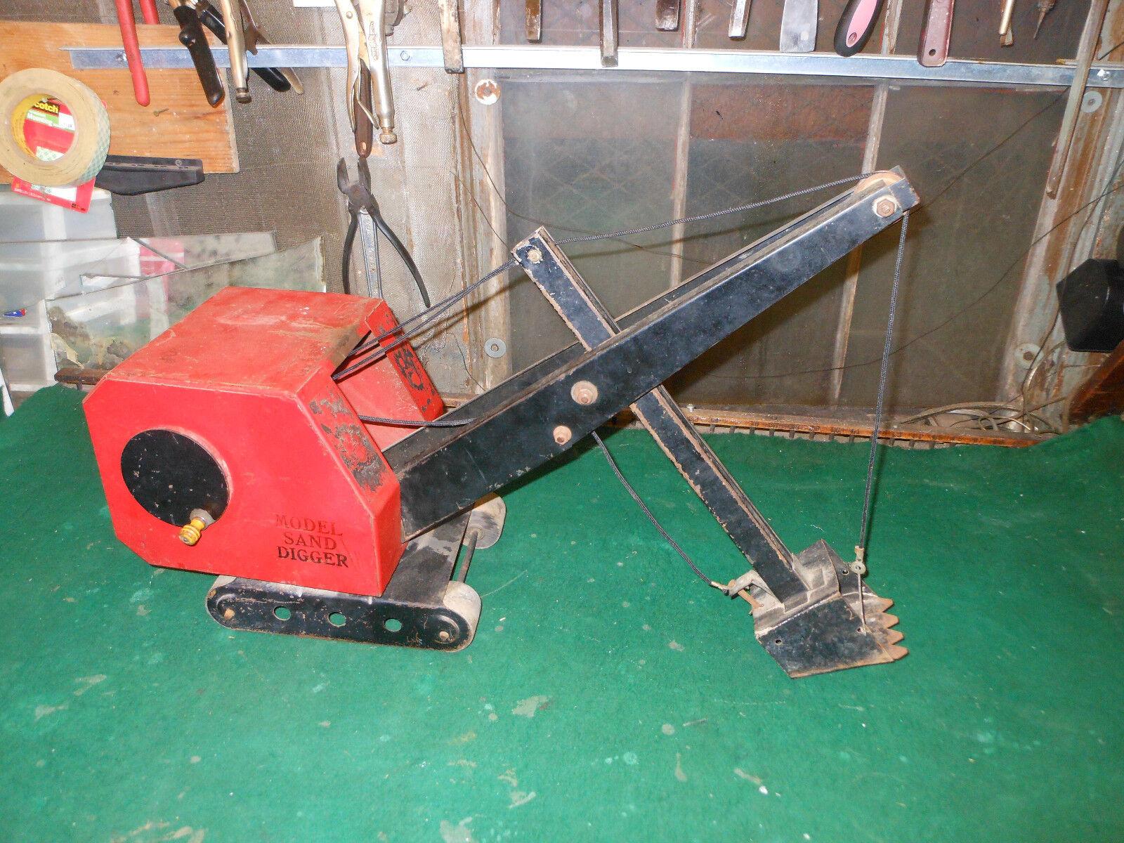 Vintage Antique Crane Huge Huge Huge Model Sand Digger Trencher Steel Sparks Bourne Handy a45e22