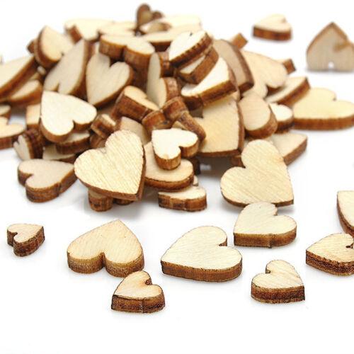 100xrústico madera amor corazón mesa de la decoración de la dispersión de arte/_k