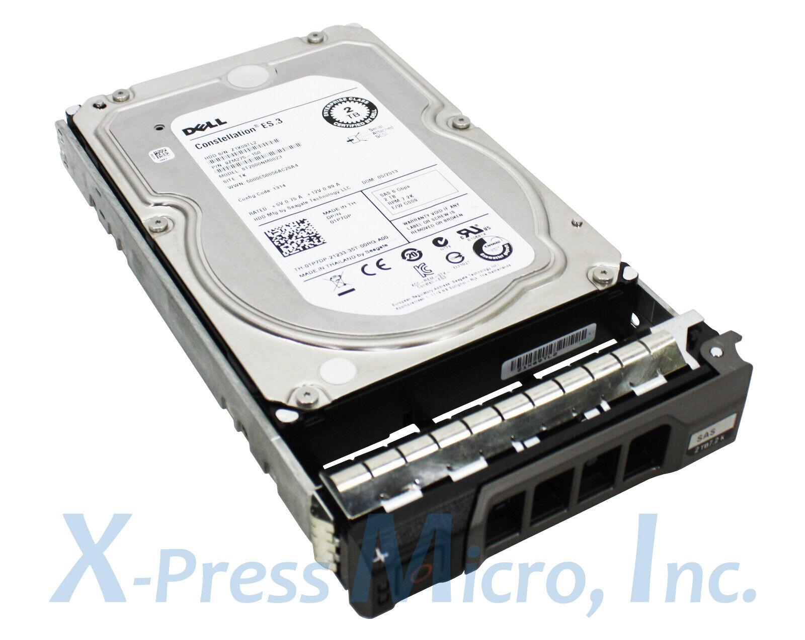 """Dell Compatible 2TB 6G 7.2K 3.5/"""" SAS 1P7DP 01P7DP HDD Third Party Hard Drive"""