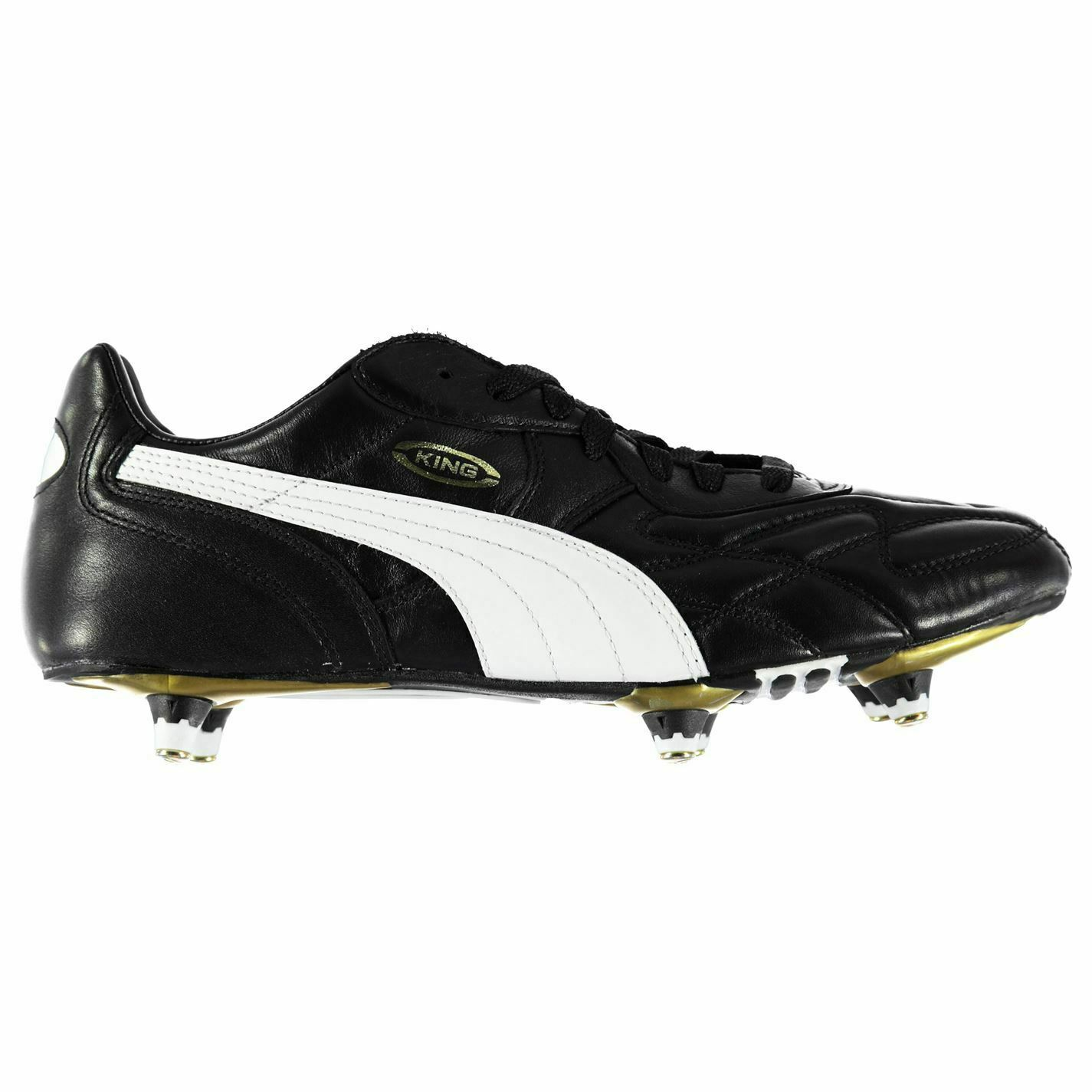 Puma King Pro SG Soft Ground Football Boots Mens Black/White Soccer Shoes  Cleats