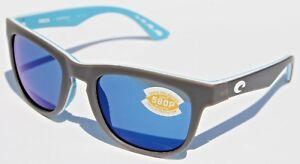 c1ad86413cf6c COSTA DEL MAR Copra 580 POLARIZED Sunglasses Matte Gray OCEARCH Blue ...