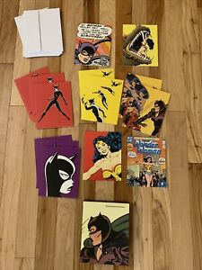 14-Vintage-Catwoman-Wonder-Woman-Assorted-Notecards-amp-Envelopes-2000