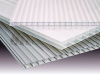 Pack Of 4 Sheets Of 10mm Clear Polycarbonate 600mm X 3500mm
