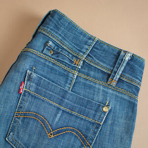 Vintage-Levi-752-Jeans-Coupe-Slim-Denim-Bleu-Homme-labelw-30L32-Taille-30-Jambe-30