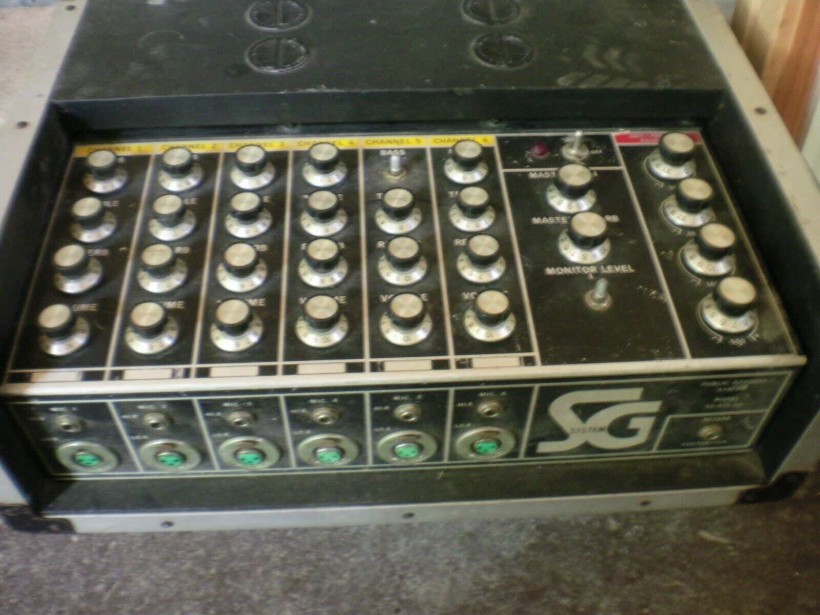Vintage Rare CMI Electronics System SG 100w SG-812 6 Channel PA Amplifier
