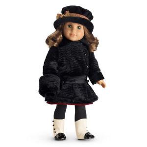 !! Manteau d'hiver de manteau d'hiver de manteau de Rebecca de poupée américaine de fille et accessoires de chapeau réglés Nouveau!!