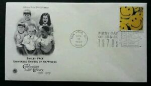[SJ] USA Smiley Face - Universal Symbol Of Happiness 1999 Smile Happy (stamp FDC