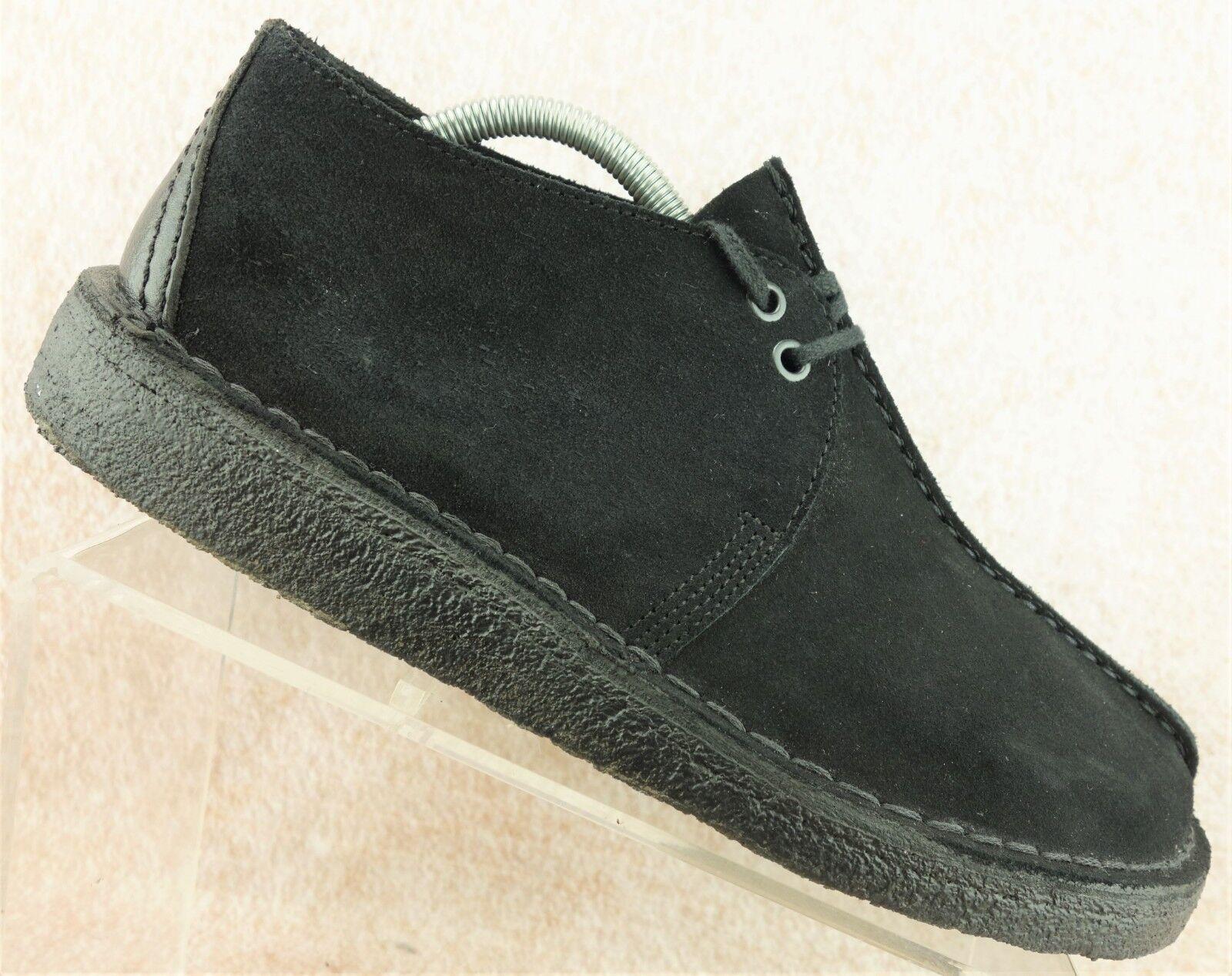 Clarks Originals Desert Trek Black Suede Casual Trail Oxford Shoes Men's 9.5 M