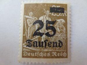 """1923 - Mi.Nr. 283 - 25 Tsd. M - Freimarke """"Arbeiter"""" - ungebraucht m. Falzr."""