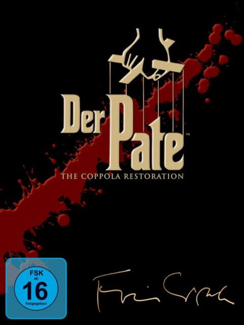 5 DVDs * DER PATE 1 + 2 + 3 TRILOGIE BOX - THE COPPOLA RESTORATION # NEU OVP +
