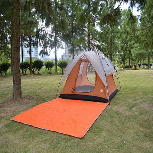 200x200CM Orange Backing Camping Tent Mat Waterproof Picnic Cushion Pad Portable