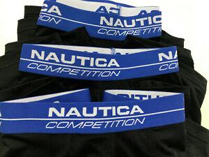 New-Nautica-Mens-Competition-Boxer-Briefs-3-Pack-Active-Black-XL