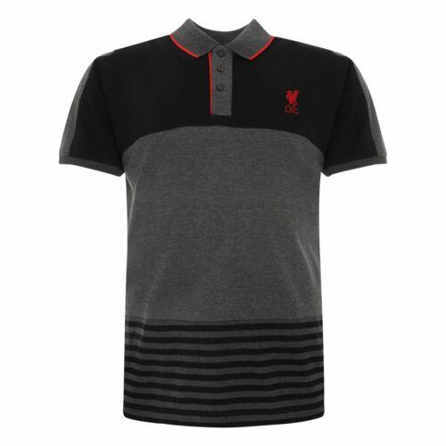 Liverpool FC Hommes Football Couleur Bloc Polo Rayé T-shirt LFC Officiel