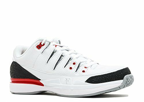 NIKE Men's Zoom Vapor RF x AJ3, White/Fire Red-Silver-Black, 4.5 M US